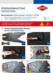Упътване за употреба смяна на ножовете 12 40/50 200